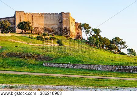 Sohail Castle In Fuengirola, Near Malaga, Andalusia Spain. Tourist Attraction. Holidays On Costa Del