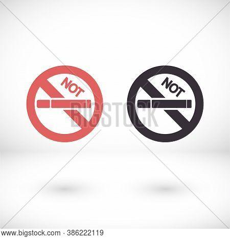 No Smoking Line Vector Icon. Stop Smoke Sign. Vector Icon Hotel Service Symbol. Vector Icon Quality