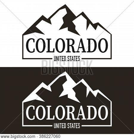 Colorado Print Design. Tee Print Design On A White Background