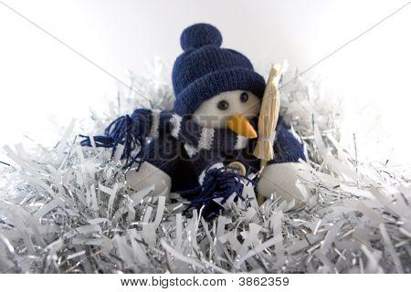 Snowman In Tinsel