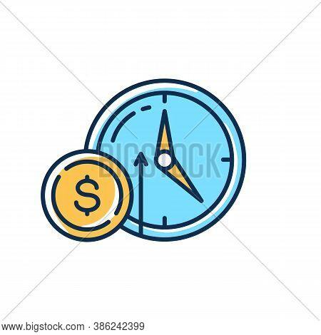Numismatic Value Rgb Color Icon. Monetary Gain. Coin With Dollar Sign. Market Income. Business Inves