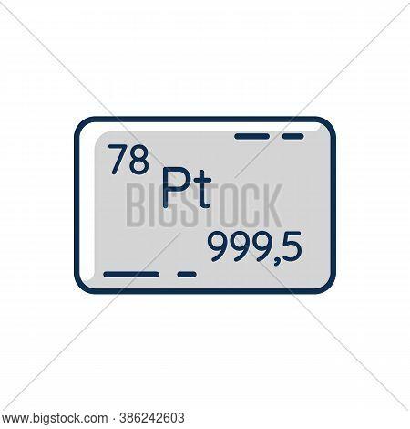 Platinum Rgb Color Icon. Precious Metal. Bullion For Deposit. Industrial Asset. Standard Of Wealth.