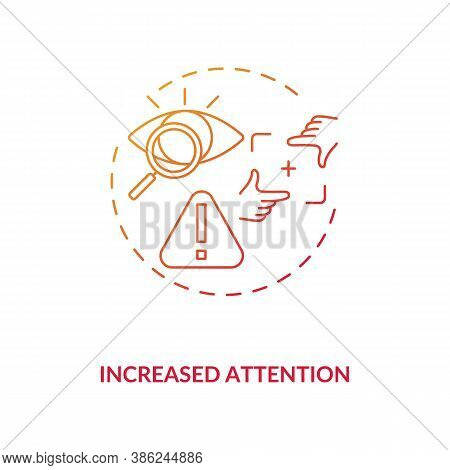 Increased Attention Concept Icon. Energy Beverages For Concentration Idea Thin Line Illustration. Me