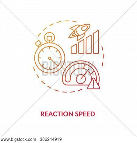 Reaction Speed Concept Icon. Cognitive Parameter Idea Thin Line Illustration. Energy Drinks Influenc