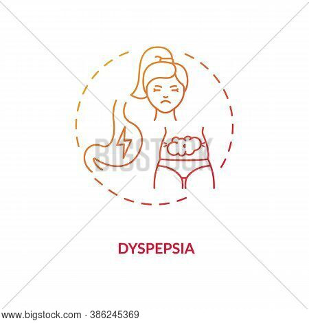 Dyspepsia Concept Icon. Stomach Problems Idea Thin Line Illustration. Energy Drinks Side Effects. Na