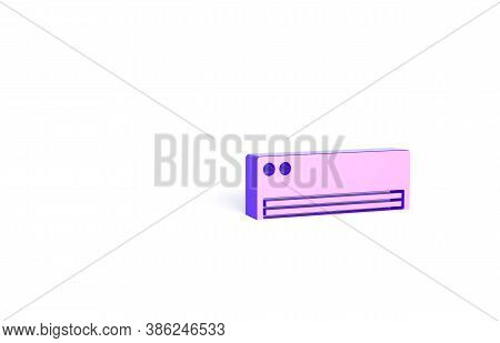 Purple Air Conditioner Icon Isolated On White Background. Split System Air Conditioning. Cool And Co