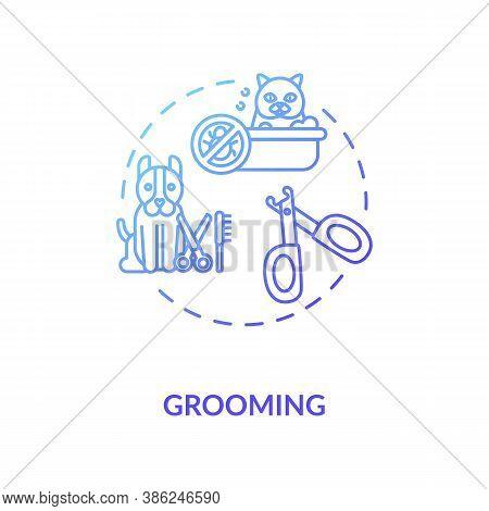 Grooming Concept Icon. Pet Services. Animal Style Upgrading Salon. Little Companion Health Improveme