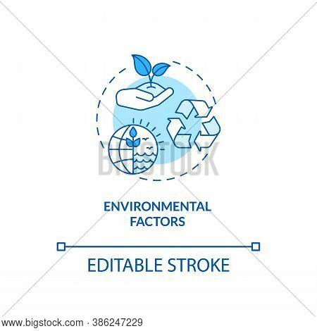Environmental Factors Concept Icon. Pestel Analysis. Cooperation With One Eco Goal. Natural Communic