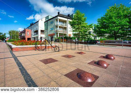 Pruszcz Gdanski, Poland - September 19, 2020: Beautiful scenery of the city center in Pruszcz Gdanski, Poland.