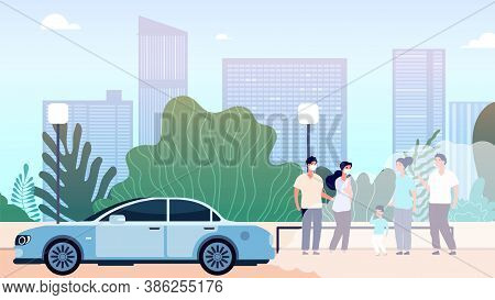 City Air Pollution. World Problem Of Environment And Ecological Situation, Dirty Atmosphere. Urban L