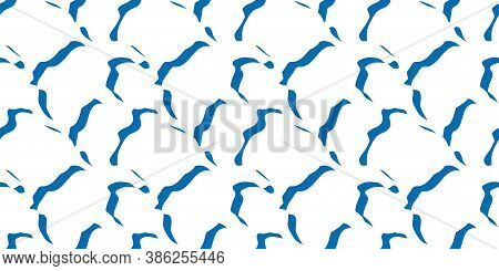 Seamless Pattern With Modern Abstract Ripples In The Water, Design For Background, Packaging Paper,