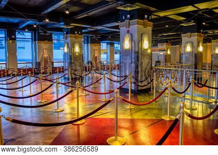 USA, New York 1.14.2015 ,  indoors of empire state building, historical buildings of NY