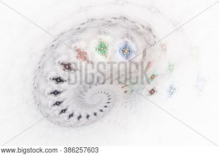 3D Visualization And Isolated Abstract Fractal On A White Background. The Abstract Computer Is Gener