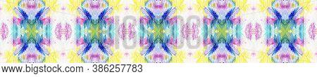 Batik Multicolor Design.  Red, Green, Blue And Pink Textile Print. Tribal Backdrop.  Multicolor Natu