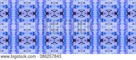 Tribal Boho Pattern. Abstract Ikat Print. Repeat Tie Dye Ornament. Ikat Islamic Design. Indigo Seaml