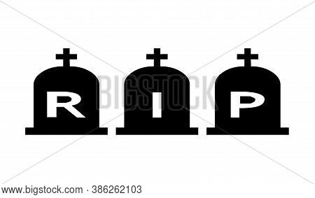 Rest In Peace Symbol Icon With A White Background