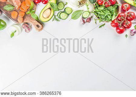 Organic Fresh Raw Vegetables Flatla