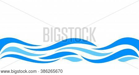 Water Waves Blue For Background, Water Ripples Light Blue And Copy Space, Ocean Sea Surface For Bann