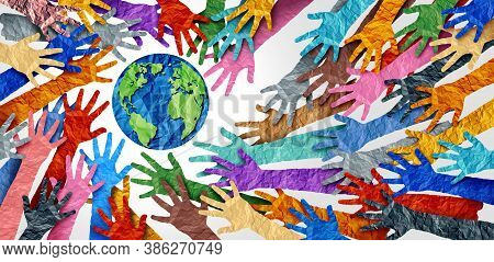 World Diversity Or Earth Day And International Culture As A Concept Of Diversity And Crowd Cooperati
