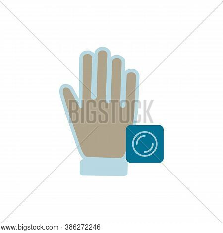 Disposable Gloves Icon. Simple Element From Allergy Collection. Creative Disposable Gloves Icon For