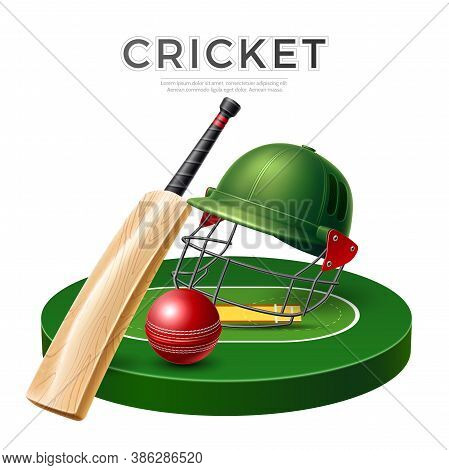 Vector Realistic Cricket Bat Stick Betting Promo