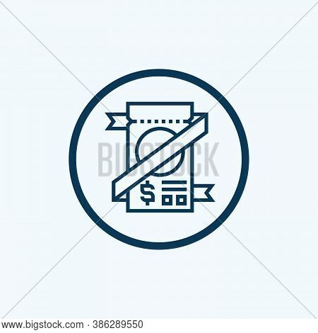 Coupon Icon Isolated On White Background From Shopping Collection. Coupon Icon Trendy And Modern Cou