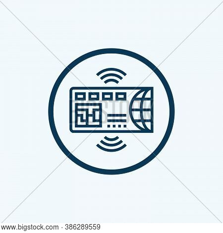 Credit Card Icon Isolated On White Background From Finance Collection. Credit Card Icon Trendy And M