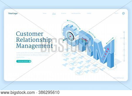 Customer Relationship Management Banner. Marketing Strategies And Technologies For Manage And Develo