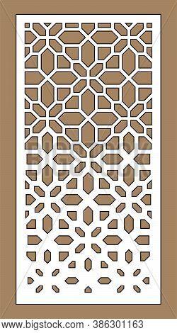 Laser Cutting Vector Template. Arabesque Vector Panel, Screen, Fence. Cnc Sheet For Interior Partiti