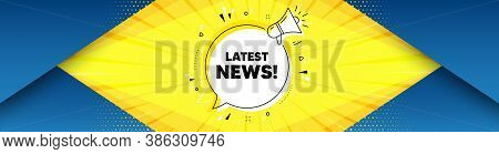 Latest News Symbol. Background With Offer Speech Bubble. Media Newspaper Sign. Daily Information. Be