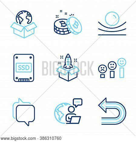 Technology Icons Set. Included Icon As Undo, Startup, Delivery Service Signs. Ssd, Messenger, Custom