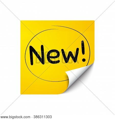 New Symbol. Sticker Note With Offer Message. Special Offer Sign. New Arrival. Yellow Sticker Banner.