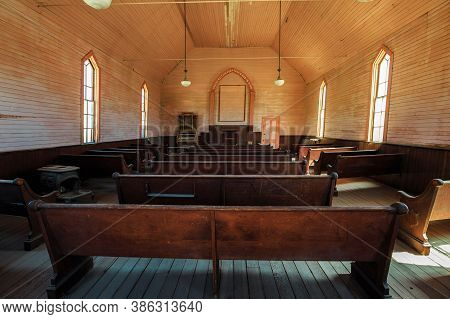 Bodie State Historic Park, California, United States Of America - August 12, 2016: Methodist Church