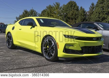 Avon - Circa September 2020: Chevrolet Camaro Display. Chevy Is A Division Of General Motors.