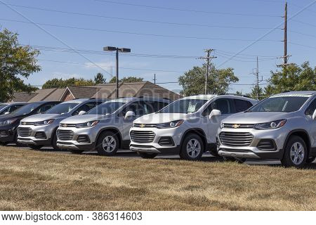 Avon - Circa September 2020: Chevrolet Trax Suv Crossover On Display At A Dealership. Chevy Is A Div