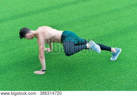 Man Exercising Improve Strength Flexibility Mobility And Coordination.