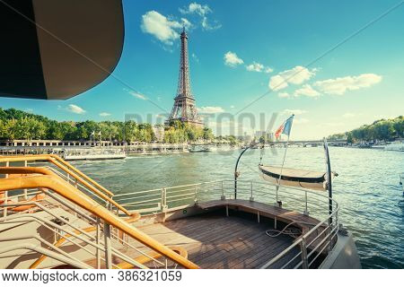 river and Eiffel tower, Paris. France