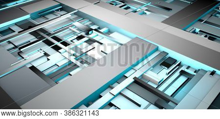 Design Engineering Science as a Modern Abstract 3d render