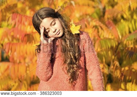 Feeling Tired And Depressed. Autumn Mood. Autumn Depression. Seasonal Affective Disorder. Kid Girl S