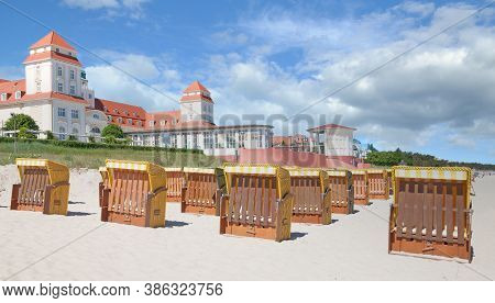 Beach And Promenade Of Binz On Ruegen,baltic Sea,mecklenburg-vorpommern;germany