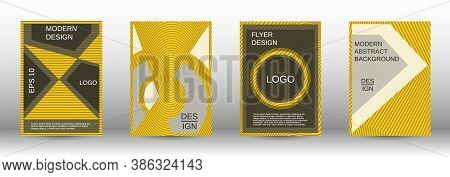 Yellow Modern Design Template In Trendy Style. Trendy Flat Illustration With Modern Design Template.