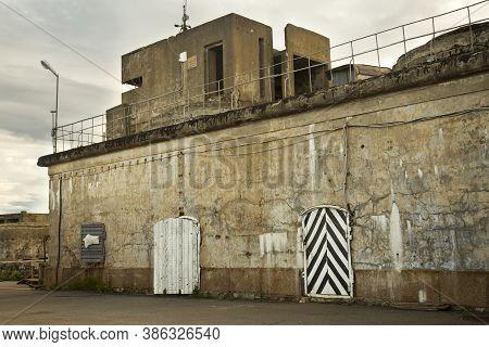 Kronstadt , Russia. 5 Juny 2016. Fortifications Of Fort