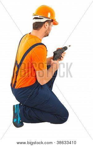 Driller Man At Work