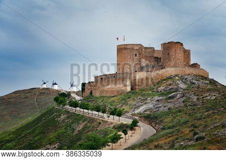 Castle in Consuegra near Toledo in Spain