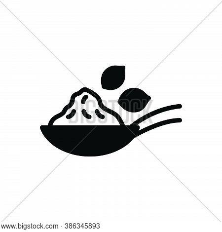 Black Solid Icon For Coriander-powder Coriander Powder Cilantro Parsley Plant  Leaves Aromatic Condi