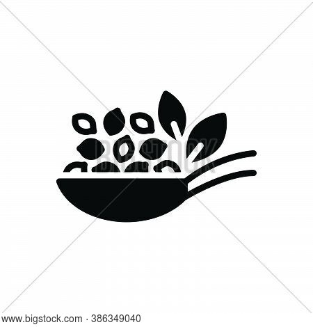 Black Solid Icon For Thymol-seed Thymol Seed Caraway Ajowan Seed Herbal Condiment Spice Flavor Ingre