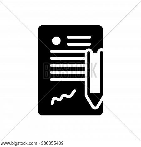 Black Solid Icon For Contract Long-term-contract Agreement Appendage Legal Bond Appendage Guarantee