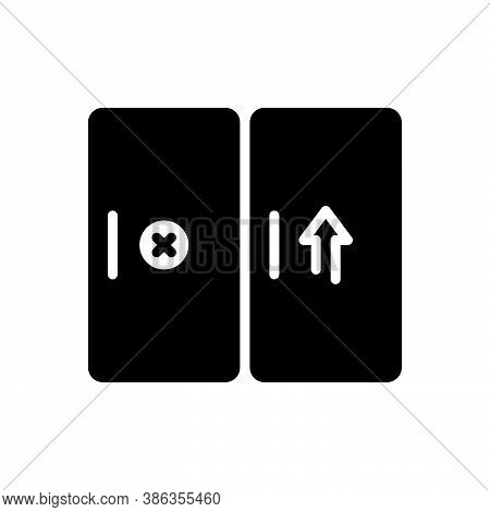 Black Solid Icon For Entrance Gateway Inlet Door Approach Inside Doorway Exit Entry Interior