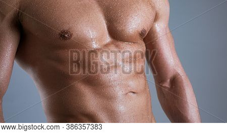 Guy With A Naked Torso. Sexy Man