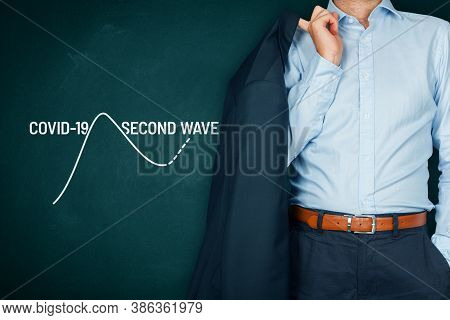 Casual Manager Prepare For A Second Wave Of Covid-19 Concept. Post-covid-19 Era In Business And Inve